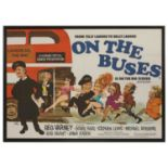 A film poster for 'On the Buses'