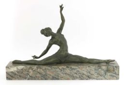 An Art Deco patinated bronze figure,