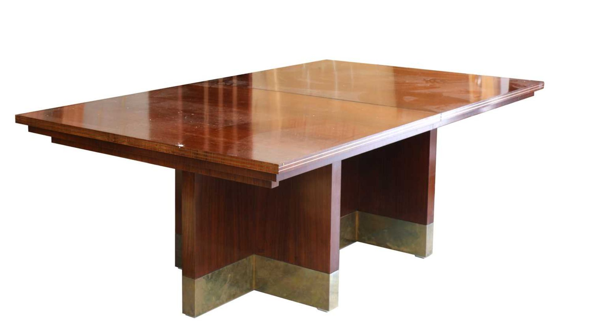 An Indian rosewood dining suite,