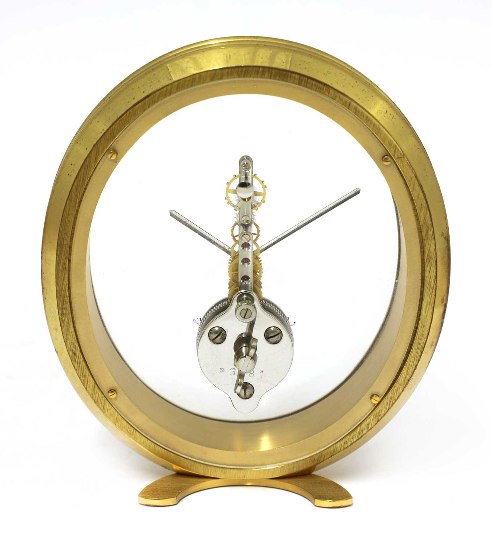 A Jaeger-LeCoultre 'Ovale' desk clock, - Image 3 of 4