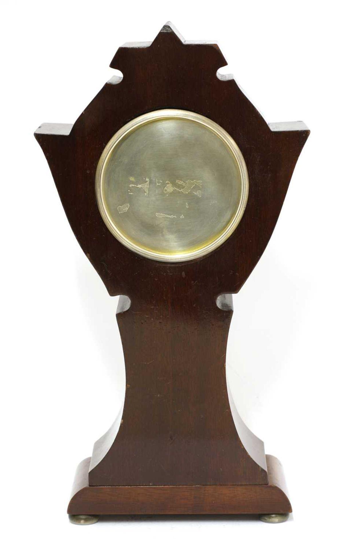 An Art Nouveau silver-mounted mantel clock, - Image 3 of 4