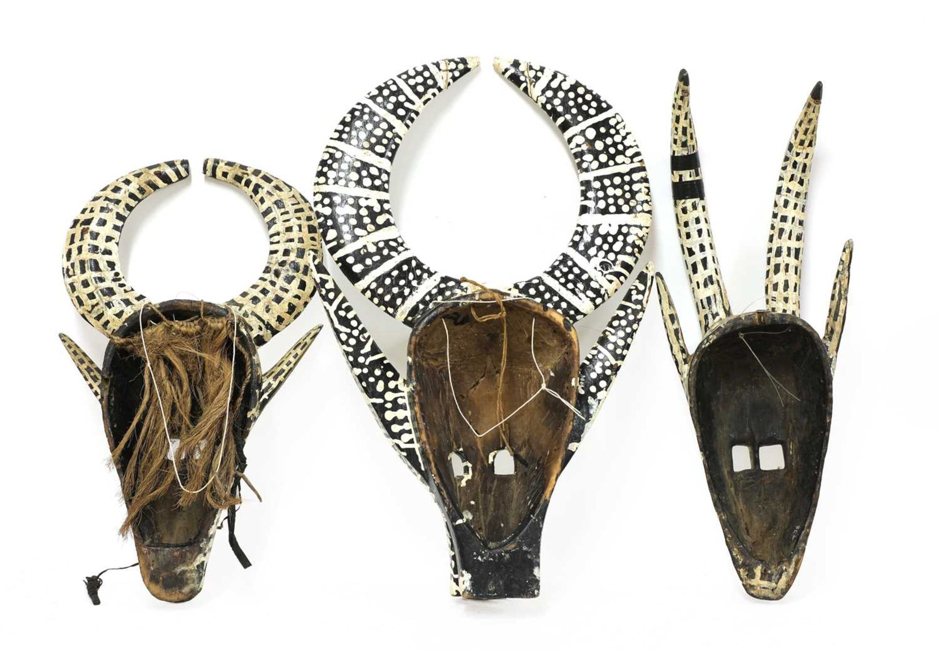 Three African tribal masks, - Image 2 of 2
