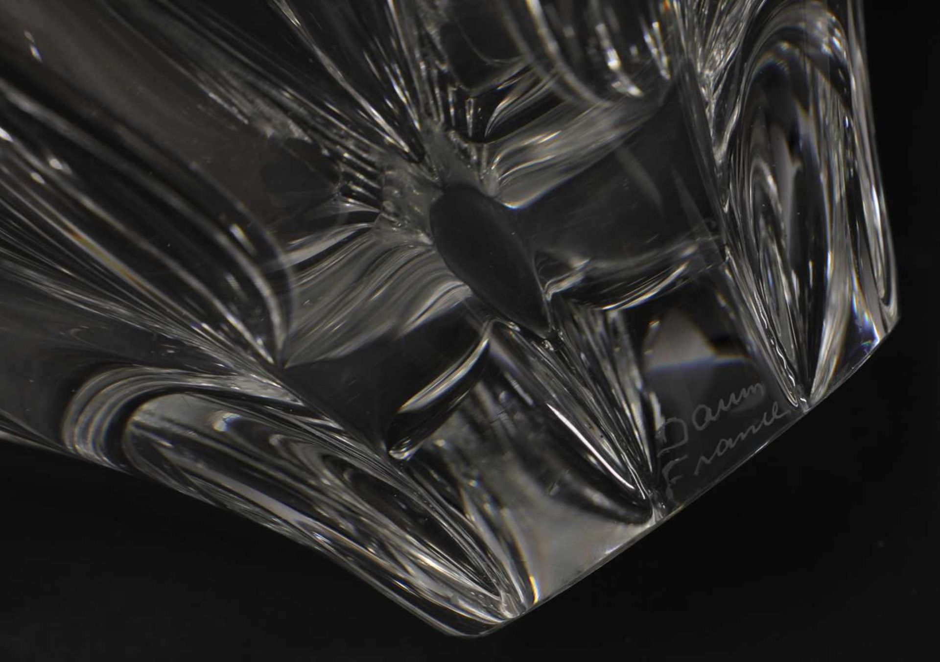 A Daum clear glass bowl, - Image 4 of 4