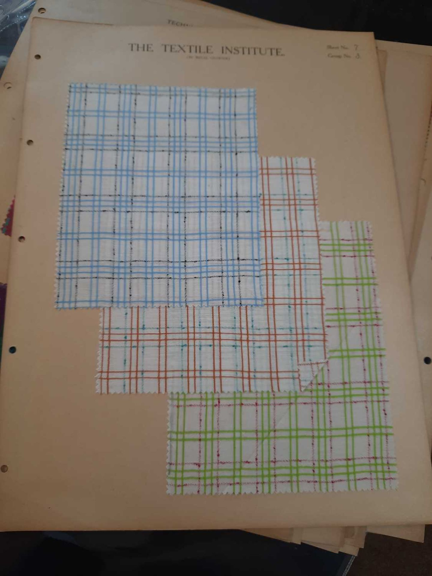A collection of twelve Art Deco fabric sample cards, - Image 11 of 11