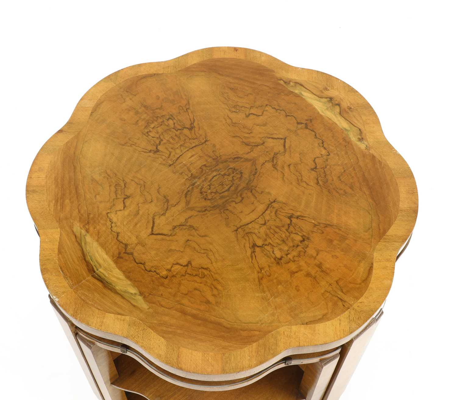 An Art Deco walnut nest of tables, - Image 3 of 3