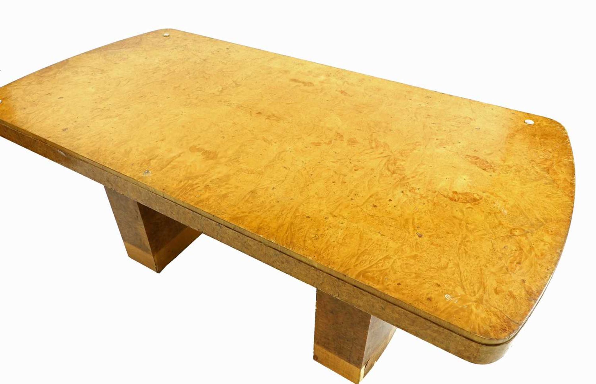 An Art Deco burr maple dining table, - Image 5 of 5