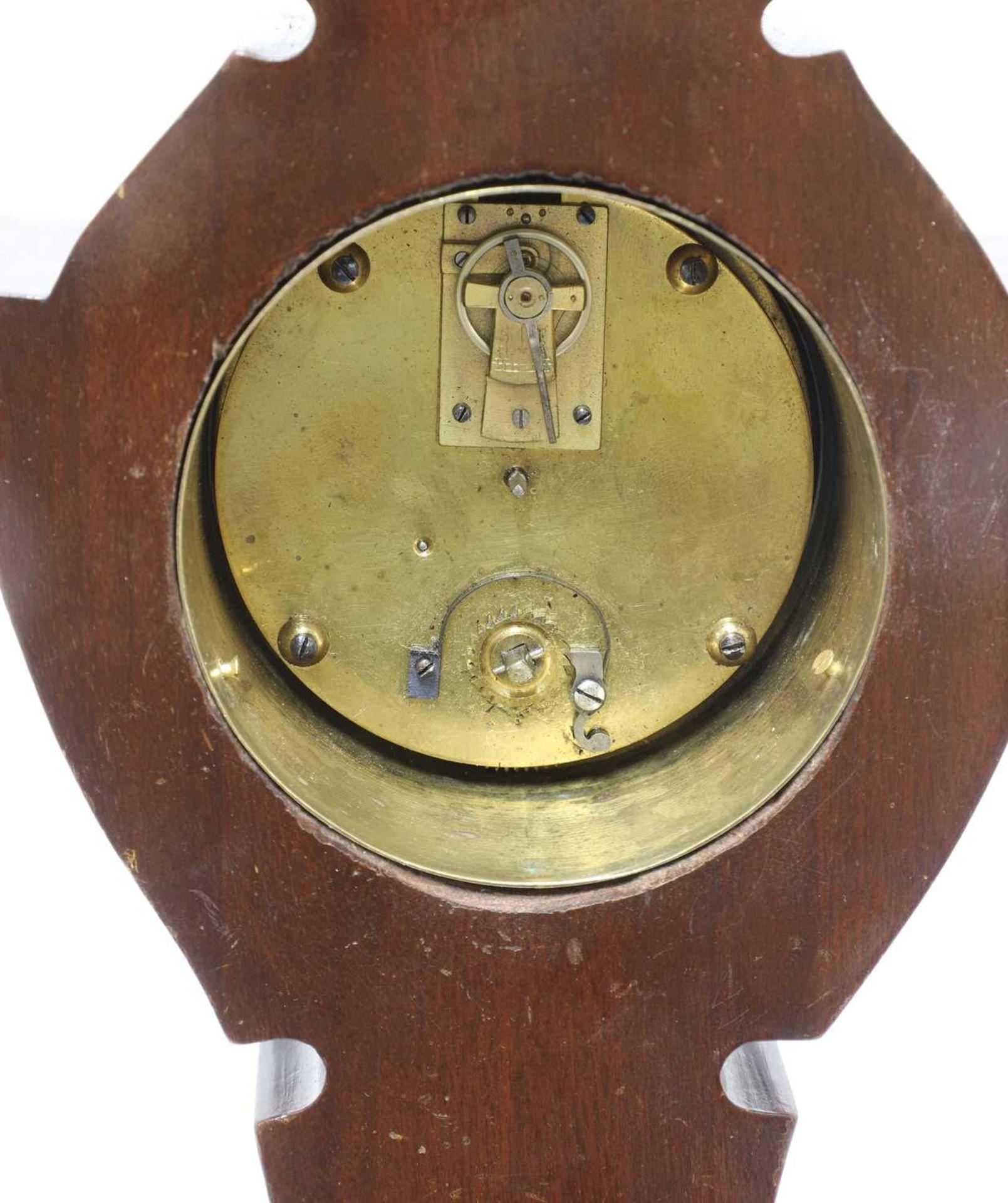 An Art Nouveau silver-mounted mantel clock, - Image 2 of 4