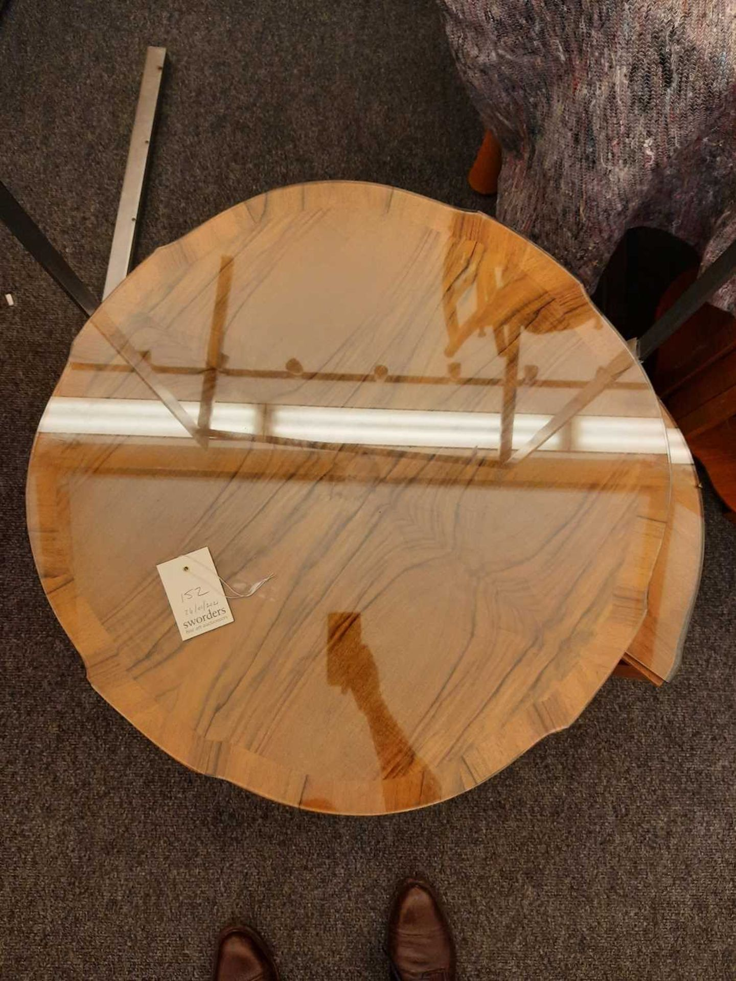 An Art Deco walnut nest of tables, - Image 5 of 6