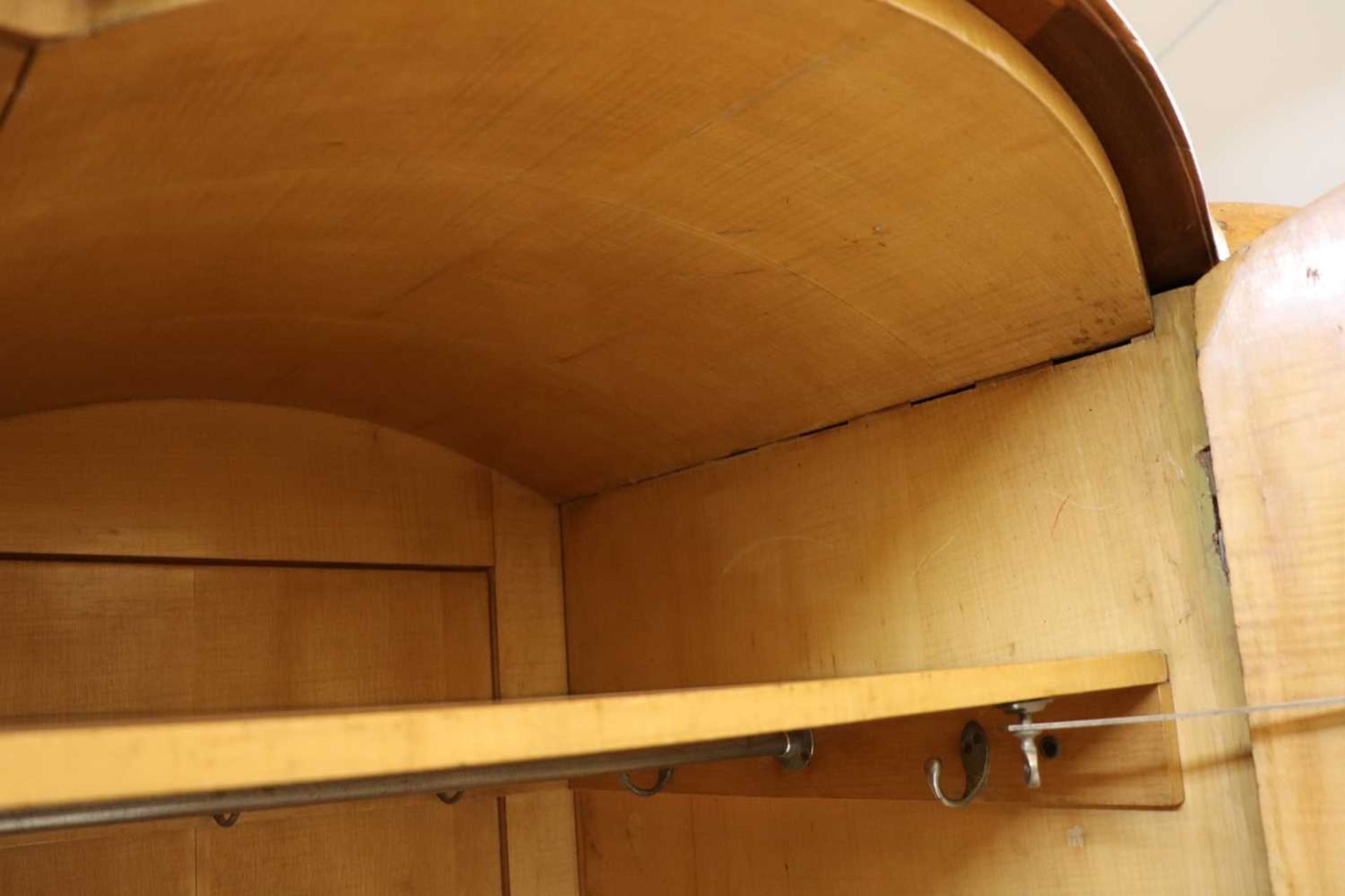 An Art Deco burr walnut and maple bedroom suite, - Image 10 of 45