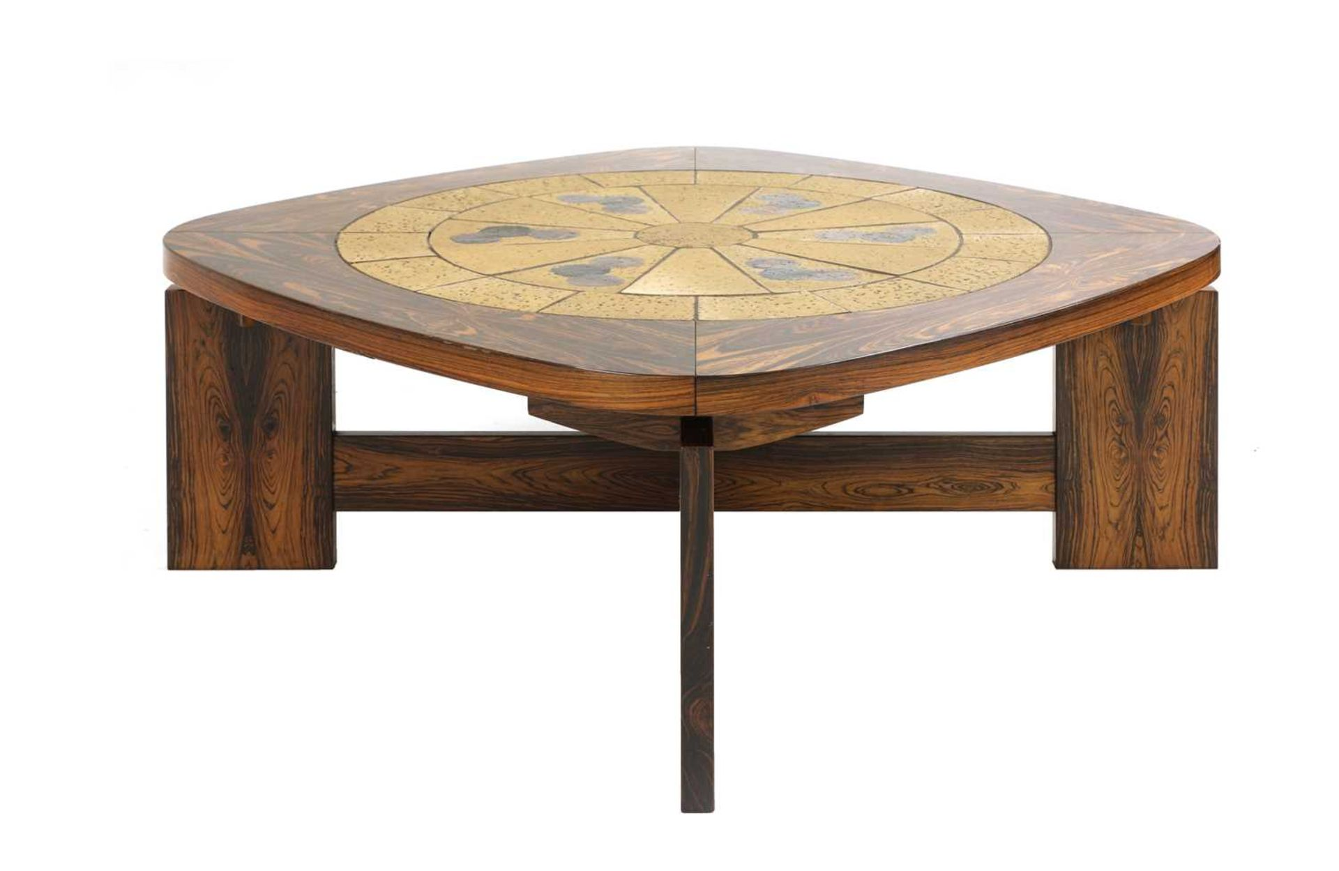 A Danish rosewood brutalist coffee table, § - Image 2 of 4