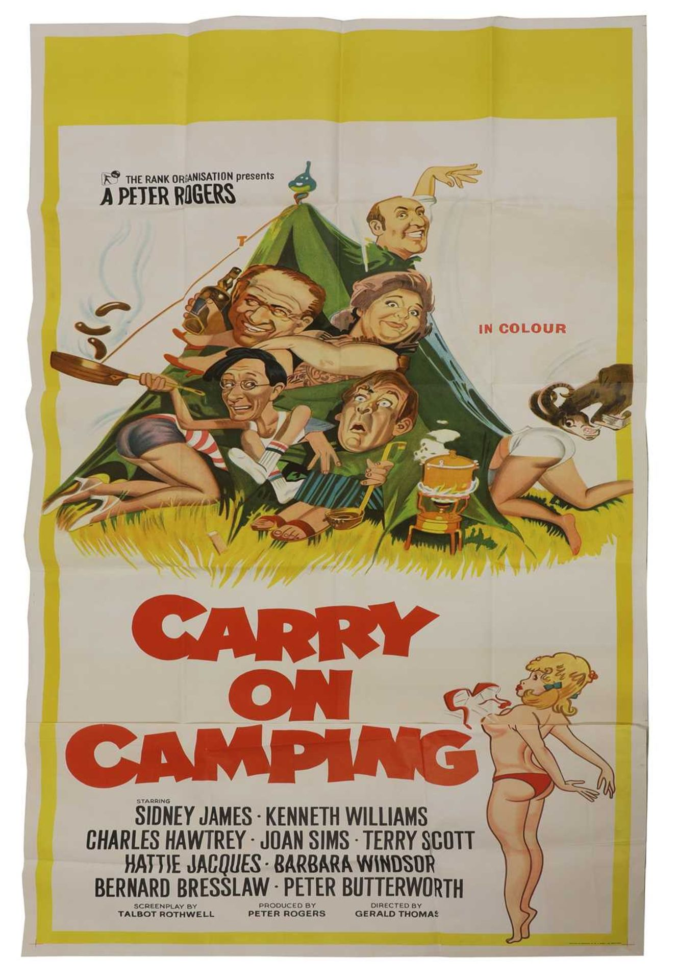 A film poster for 'Carry On Camping',