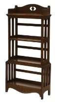 An Arts and Crafts oak four-tier open bookcase,