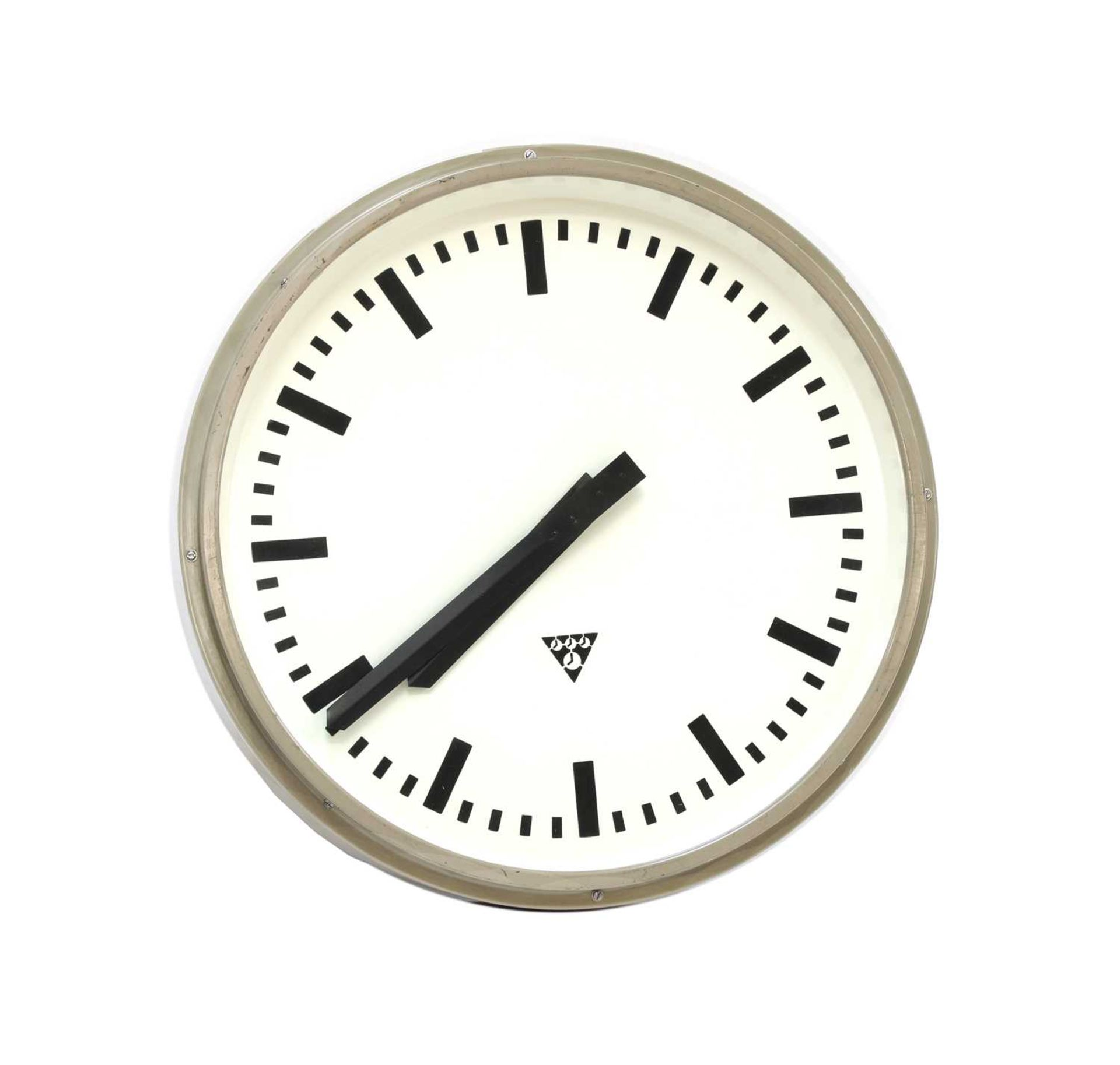 A large Pragotron wall clock,
