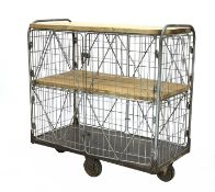 An industrial cage trolley,