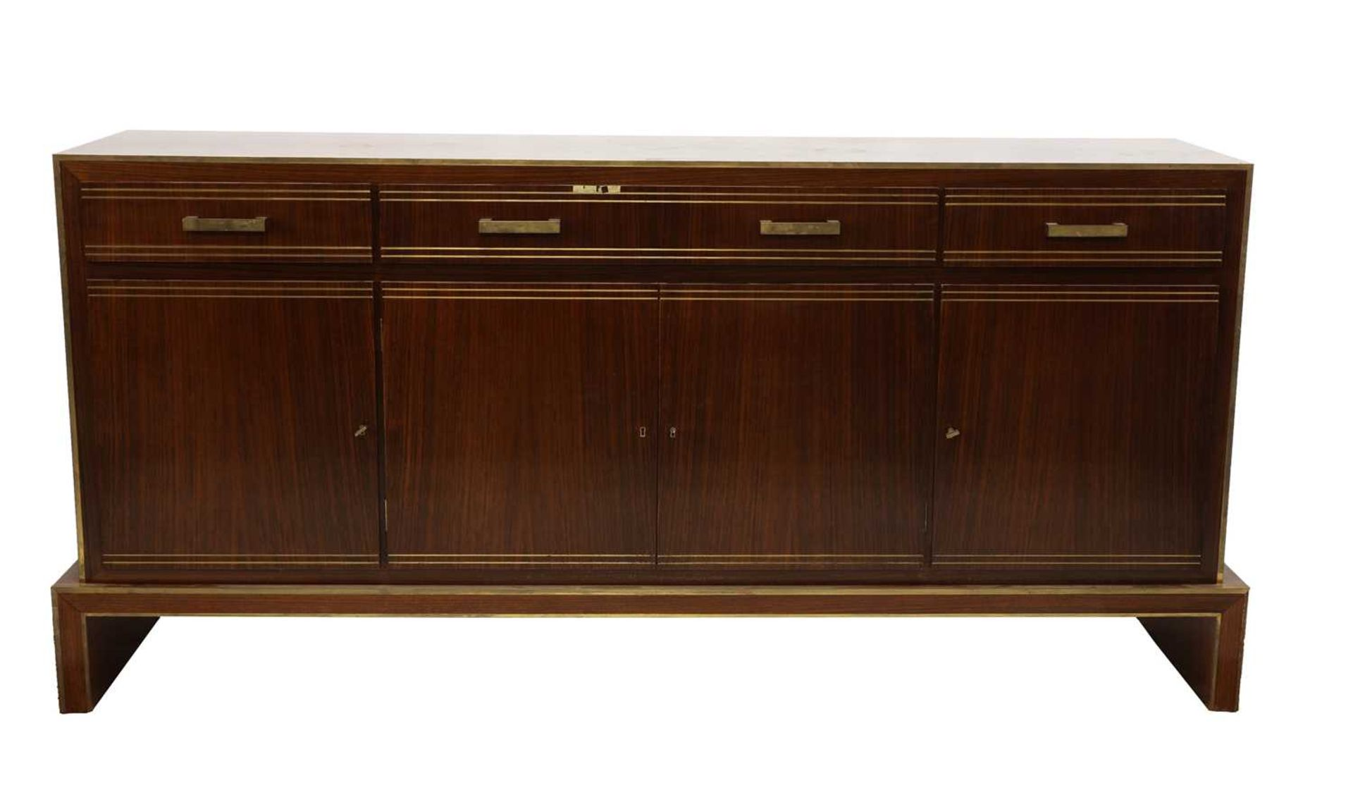 An Indian rosewood dining suite, - Image 2 of 10