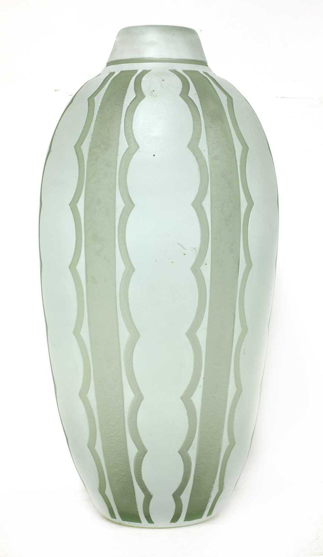 A Daum cased glass vase, - Image 2 of 3