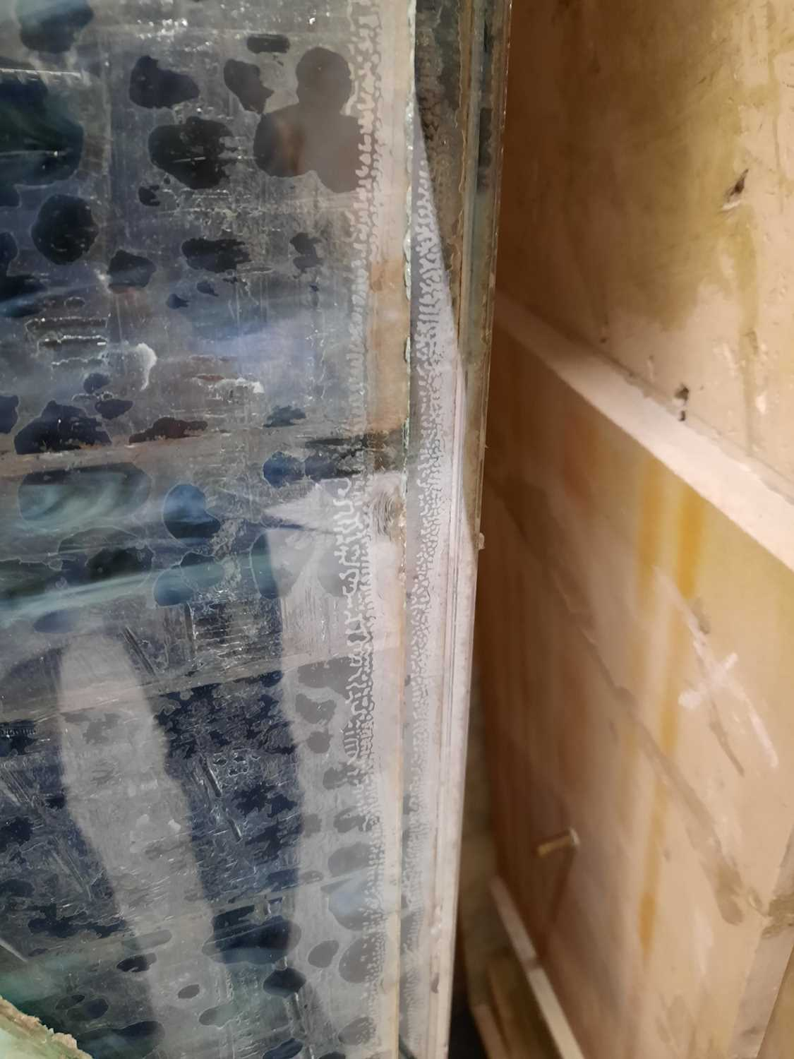 A pair of contemporary glass panels, - Image 3 of 5
