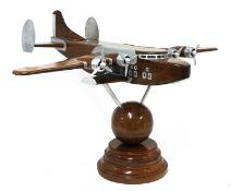 A model of a Pan American Boeing 314 Clipper floatplane,