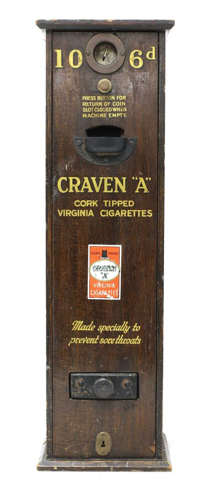 A 'Craven A' cigarette dispenser,