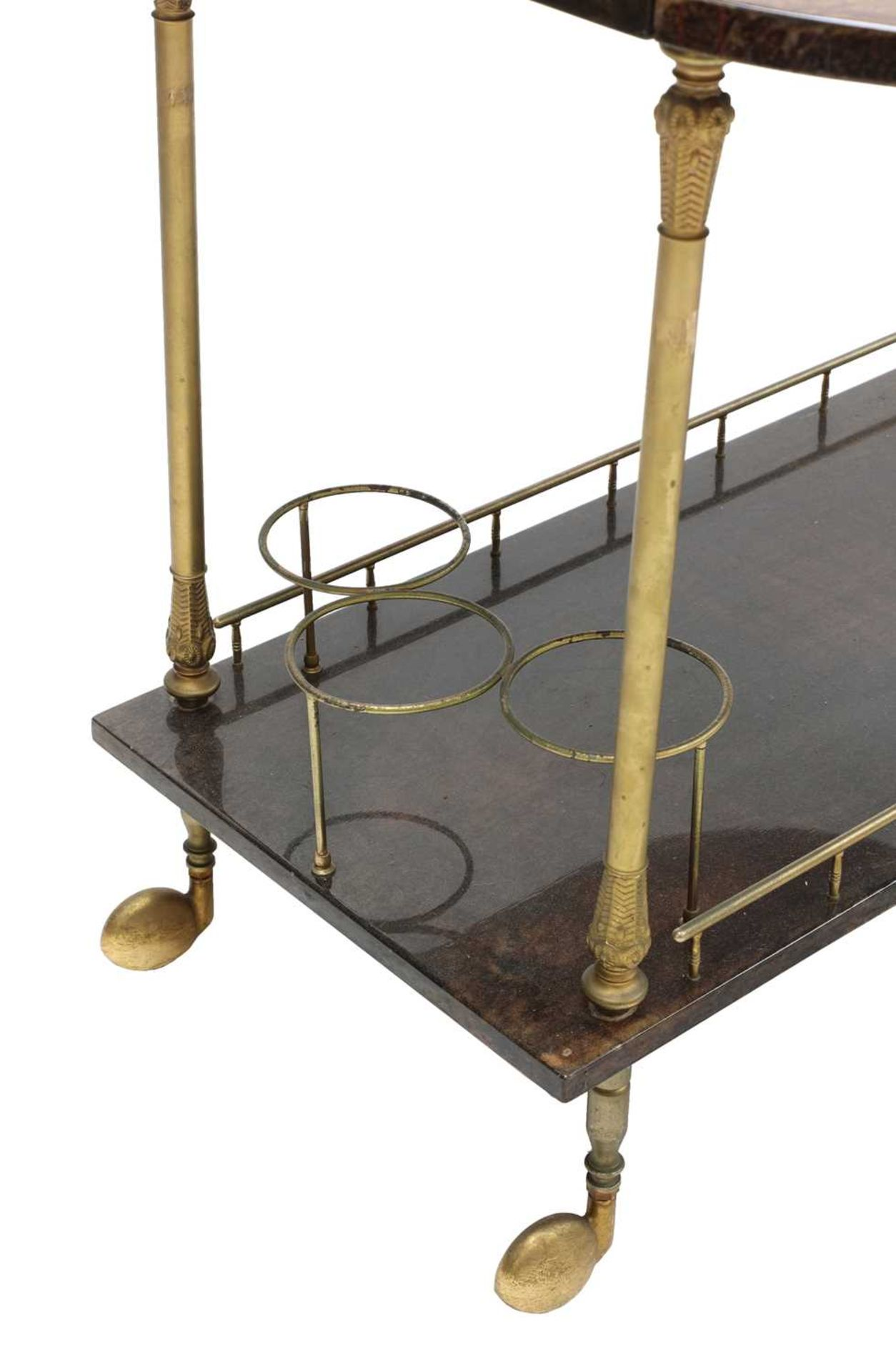 An Aldo Tura two-tier vellum drinks trolley, - Image 2 of 4
