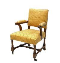 A Gothic oak armchair,