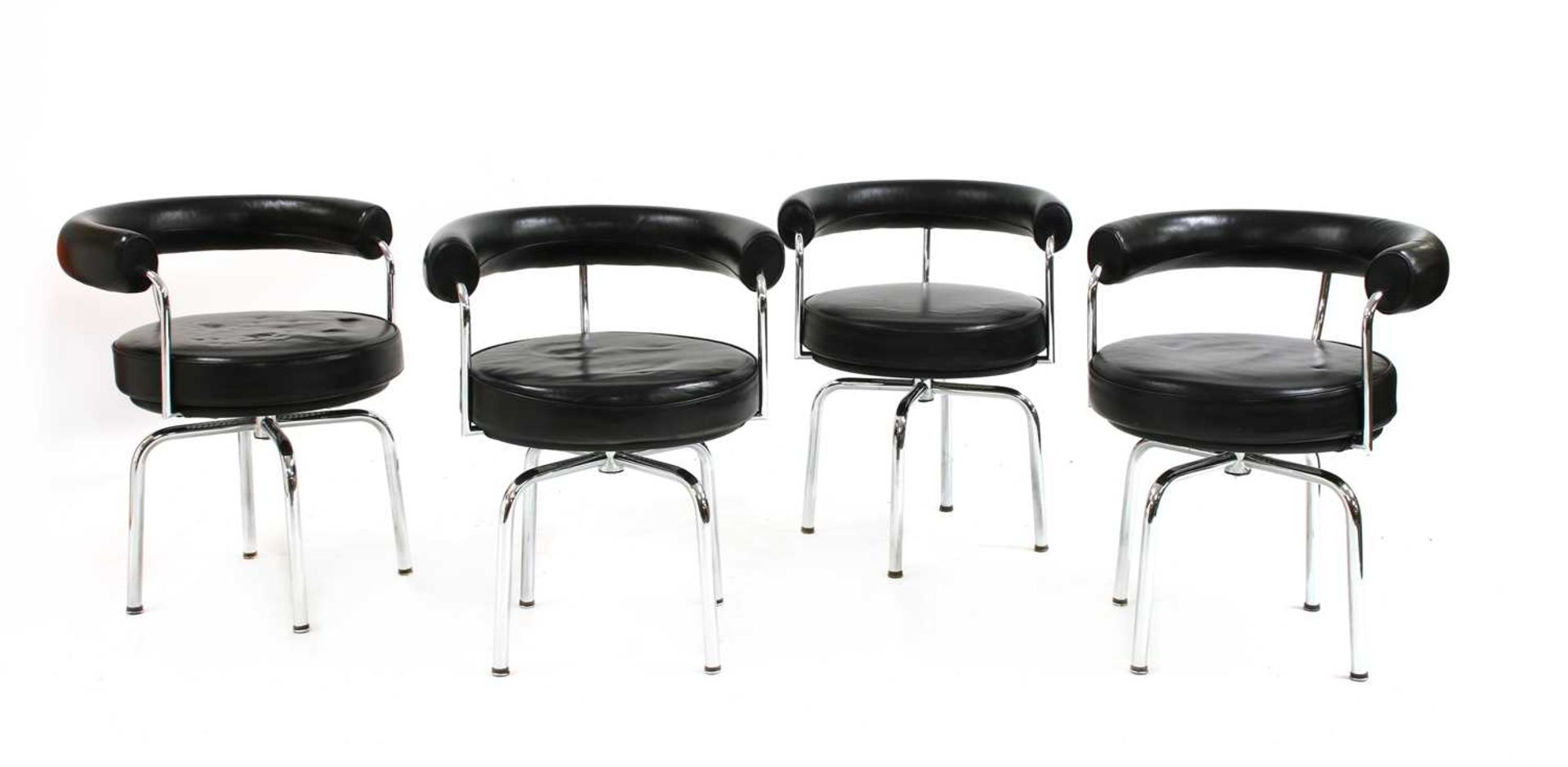 Four contemporary revolving chairs, - Image 2 of 4