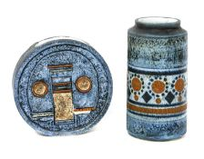 A Troika Pottery moon flask,