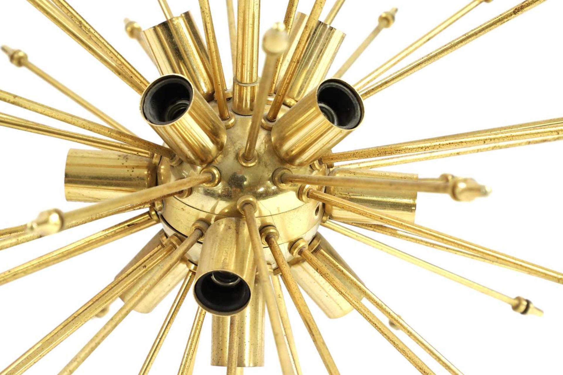An Italian brass globe ceiling light, - Image 2 of 2