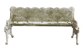 A cast iron bench,