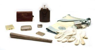 A Collection of Masonic memorabilia and silver,