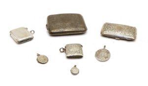 A George V silver cigarette case