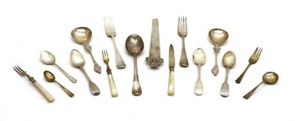 Various silver cutlery