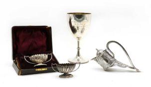 A Victorian silver claret jug mount