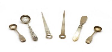 A Victorian silver bladed butter knife,