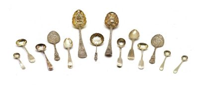 A George III silver berry spoon,