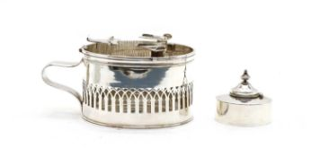 An antique French silver chaffing dish