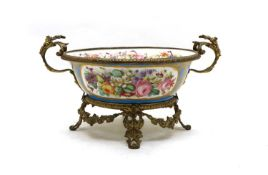 A French Sevres-style porcelain bowl