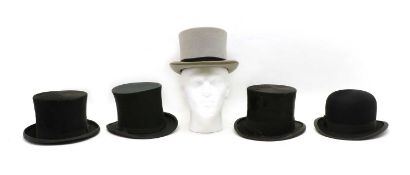 A collection of top hats,
