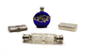 A George IV silver pill box by Adolph Barsach Davis,