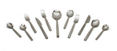 A stylish six setting set of 'Stellar' stainless steel cutlery