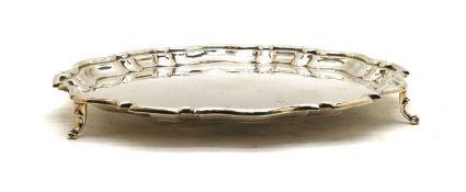 A George V silver salver,