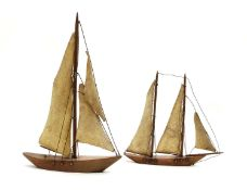 Two French yacht models