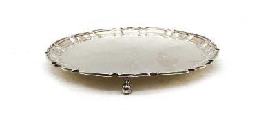 An Edward VII silver salver,