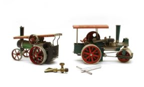 A Wilesco 'Old Smoky' steam roller,