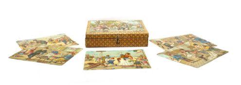 A Victorian 20 piece cube puzzle,