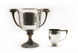 Two 'Art Deco' period silver trophies