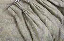 A pair of lined and interlined curtains,