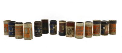 A collection of approximately fifty Edison gramophone cylinders