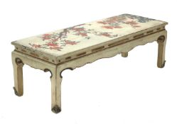 A lacquered and painted Chinese-style low table