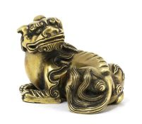 A Chinese bronze weight,
